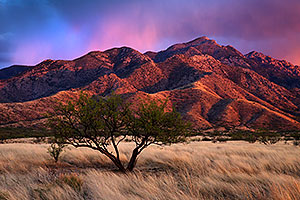 Sunset at Santa Rita Mountains