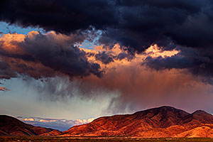 Rain clouds over Santa Rita Mountains