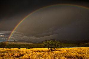 Rainbow over Santa Rita Mountains