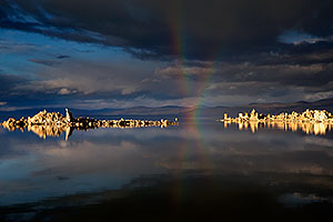 Crossing Rainbow at Mono Lake, California