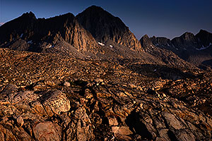 Dusy Basin in Eastern Sierra, California