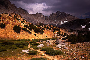Bishop Pass in Eastern Sierra, California