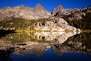 Ediza Lake in Eastern Sierra, California