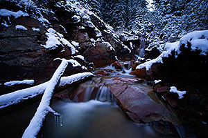 Snowy creek at Red Mountain Pass