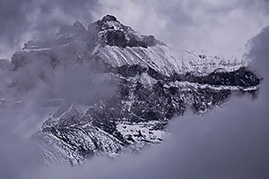 Mount Sneffels in the fog and snow