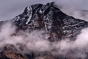 Mountains in the fog by Durango, Colorado