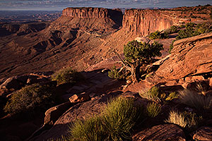 Morning at Grand View in Canyonlands, Utah