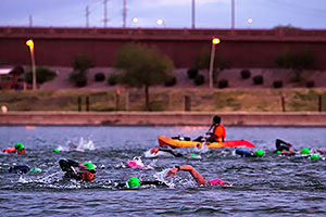 00:17:09 swimming at Ironman Arizona 2016