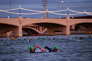 00:21:16 swimming at Ironman Arizona 2016