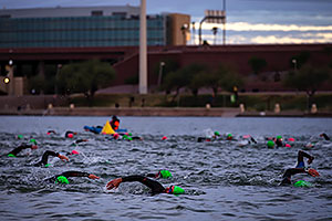 00:26:56 swimming at Ironman Arizona 2016