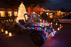 USMC Jeep with Christmas Lights in Tubac, Arizona
