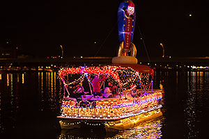 Boat #08 Space Sleigh at APS Fantasy of Lights Boat Parade