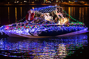Boat #38 with Santa Claus at APS Fantasy of Lights Boat Parade