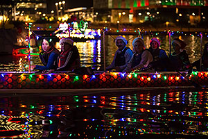 Dragon Boat Association boat at APS Fantasy of Lights Boat Parade