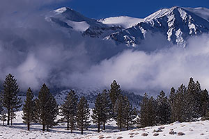 Eastern Sierra Mountains in winter