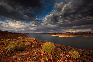 Monsoon clouds and Lake Powell, Utah