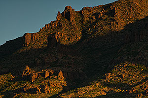 Moning in Superstitions, Arizona