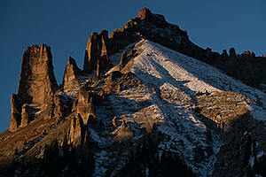 Castle Rocks Mountain Peak at Owl Creek Pass, Colorado