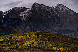 Fall colors at McClure Pass, Colorado