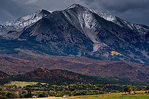 Fall colors at Mount Sopris, Colorado