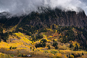 House and mountains in Crested Butte