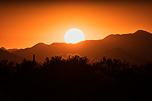Sunset at Four Peaks, Arizona