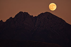 Evening moon at Four Peaks, Arizona