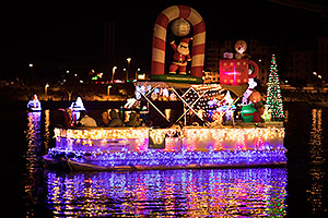 Boat #16 with Santa - Christmas Night Fever - at APS Fantasy of Lights Boat Parade