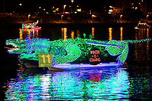Boat #11 - Winter is Coming - at APS Fantasy of Lights Boat Parade