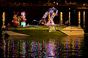 Boat #24 with Mickey and Minnie at APS Fantasy of Lights Boat Parade