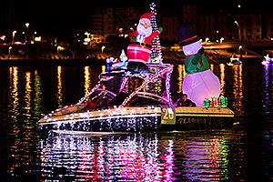 Boat #25 with Santa and Snowman at APS Fantasy of Lights Boat Parade