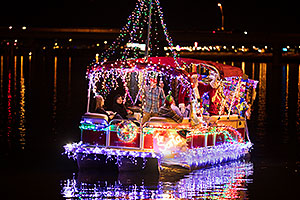 Boat with Santa at APS Fantasy of Lights Boat Parade
