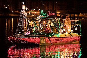 Boat #46 - Merry Christmas - at APS Fantasy of Lights Boat Parade