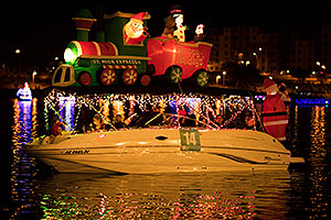 Boat #14 with Santa - Happy Holidays - at APS Fantasy of Lights Boat Parade