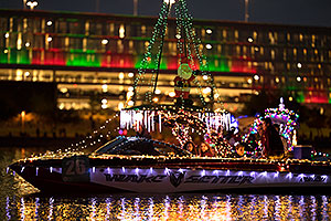 Boat #26 with Santa at APS Fantasy of Lights Boat Parade