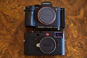 Leica M10 and Sony A7R III cameras