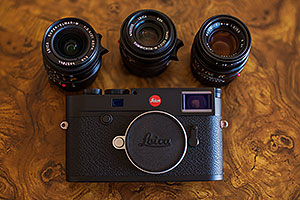 Leica M10 and Leica 21mm, 35mm and 50mm lenses
