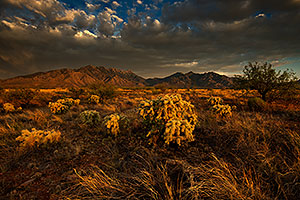 Evening clouds at Santa Rita Mountains