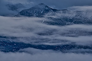 Fog and snow on Santa Rita Mountains