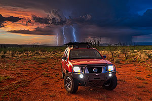 Lightning and Xterra in Green Valley