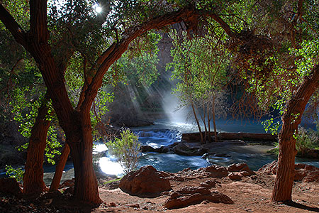 Morning at Havasu Falls