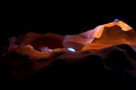 Slot canyon view in Arizona