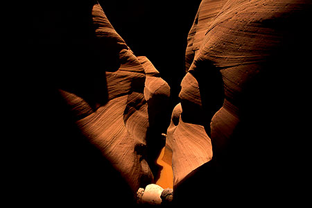 View of a slot canyon in Arizona