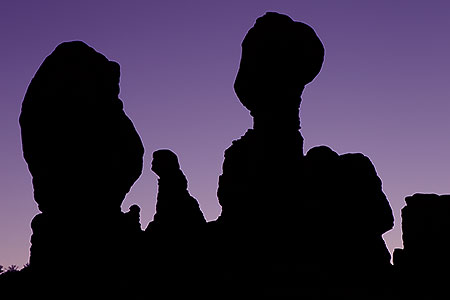 Rock formations in Arches, Utah