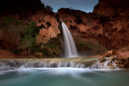Havasu Falls at sunrise
