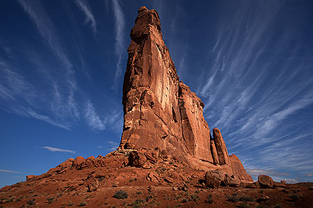 Courthouse Rock in Arches, Utah