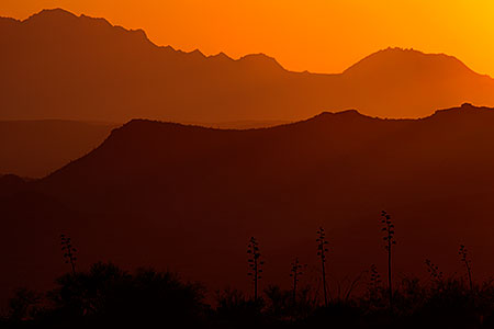 Sunset at Fish Creek Hill in Superstitions