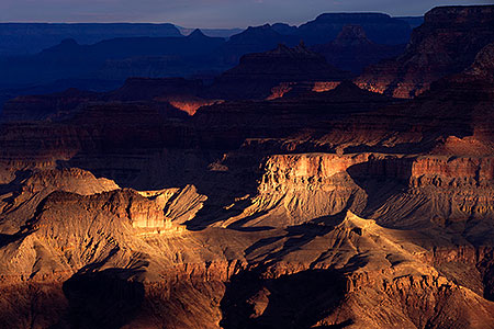 Morning light over Grand Canyon, Arizona