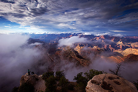 Fog over Grand Canyon, Arizona