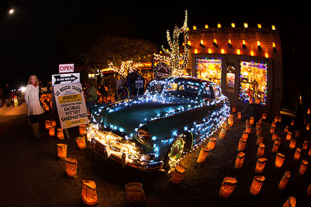 Hudson at Luminaria Nights in Tubac, Arizona